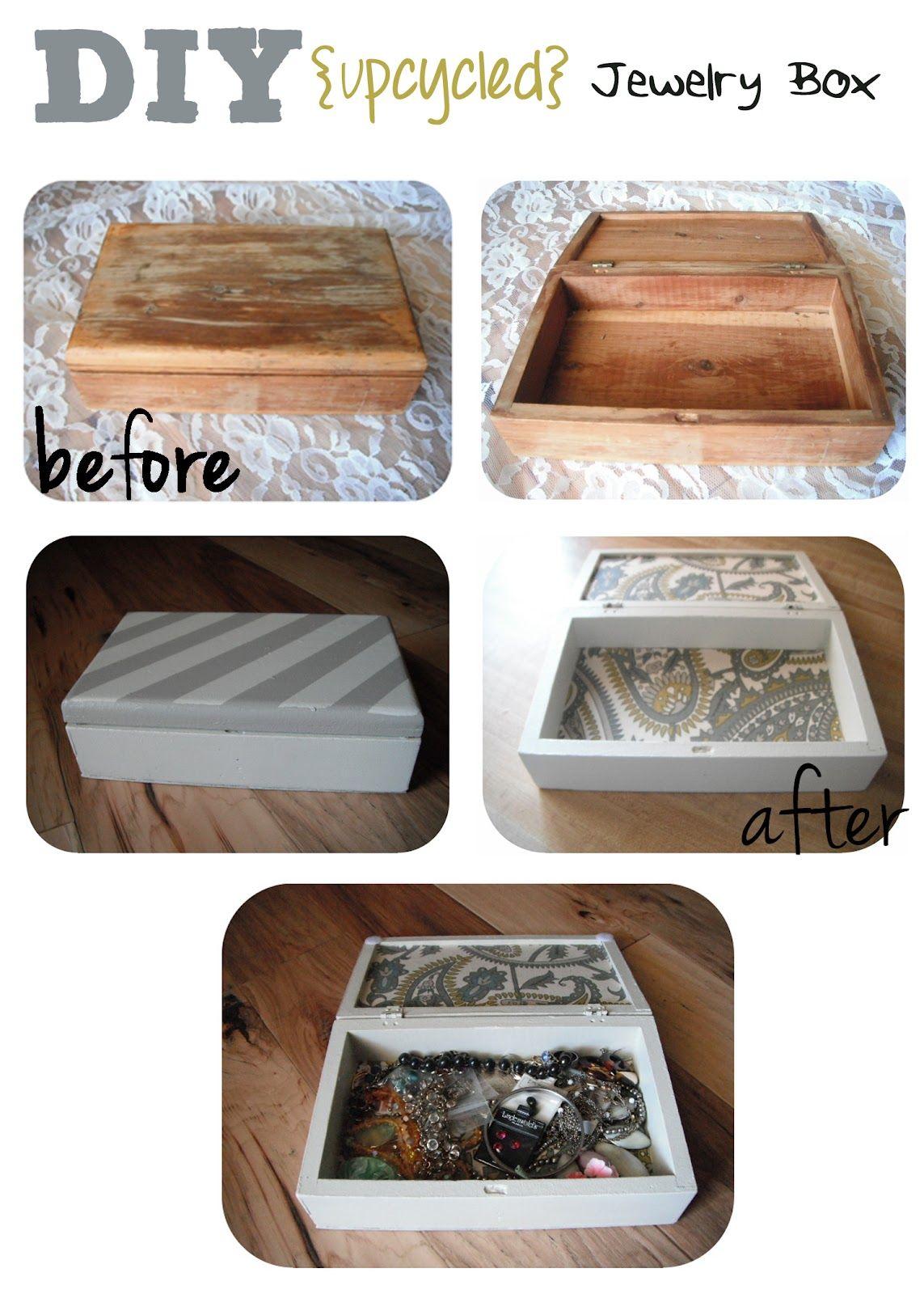 Sewcal Mama Diy Jewelry Box Upcycled