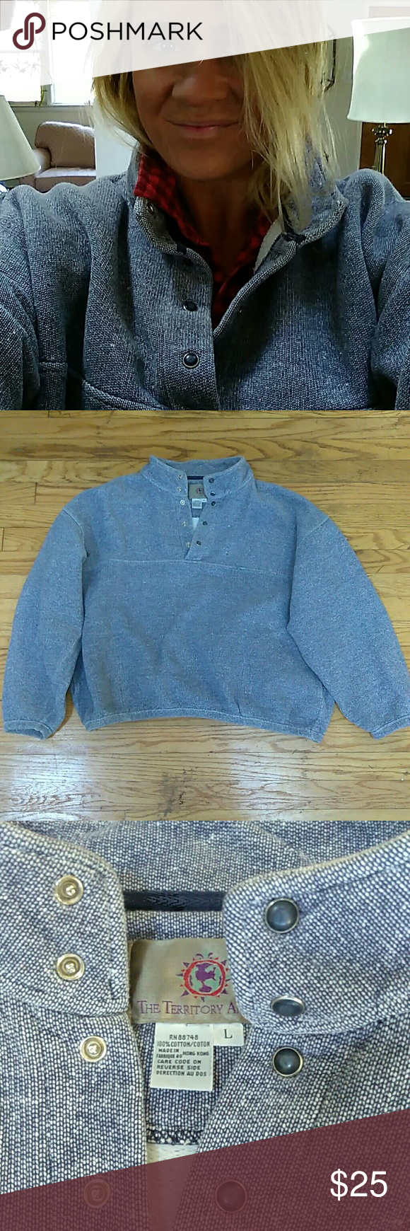 The Territory Ahead Vintage Pullover Awesome WARM 100% cotton ...
