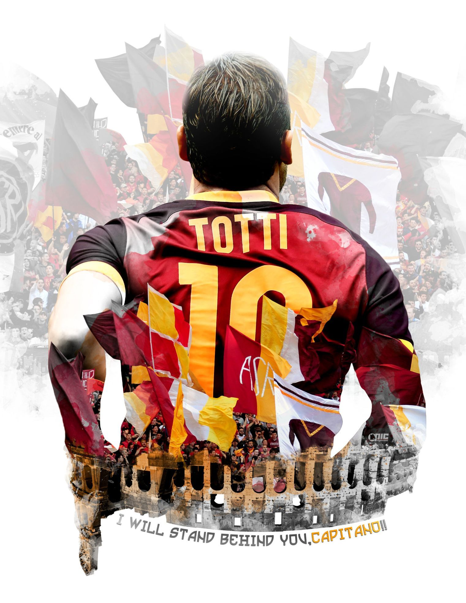 Roma Art: A 23rd anniversary tribute to Totti | Roma | As ...