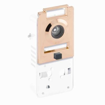 Prime-Line 200-Degree Metal Brass Door Viewer with Chime-U 10814 at The Home Depot