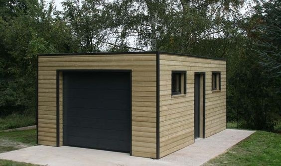 Construire Un Garage De 20m2 Abri Jardin En Parpaing Prix Luxe D En 2020 Garage Bois Toit Plat Construire Un Garage Toit Plat