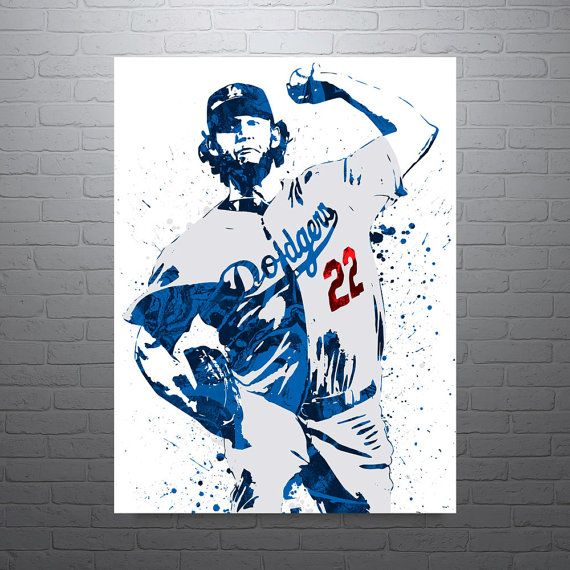 Canvas Print Wall Art Los Angeles Dodgers Baseball Poster Kids Decor Sports Art Print Modern Clayton Kershaw Poster Man Cave Gift
