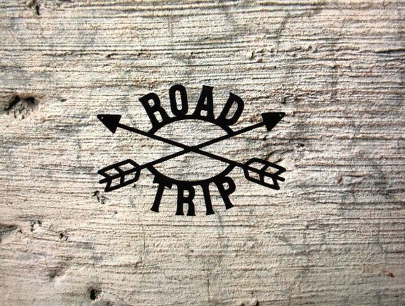 Road Trip Sign with Arrows, Man Cave Decor, Garage decor, RV and Trip Decor #garagemancaves
