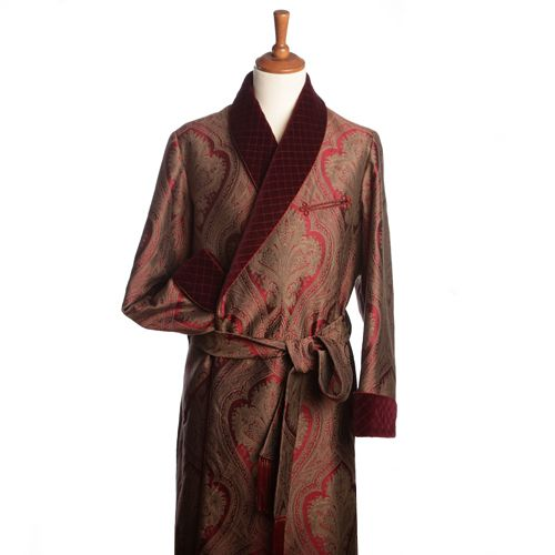 Turnbull & Asser Red Silk Dressing Gown | Lord Randle | Pinterest