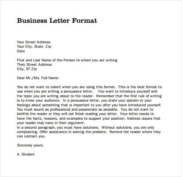Format Of A Business Letter template Pinterest Business letter