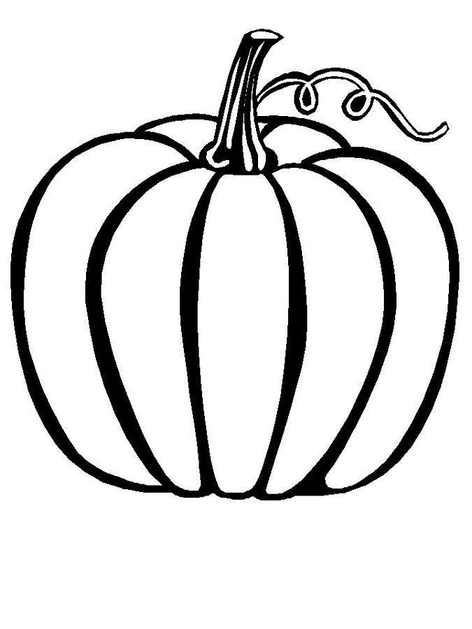 Printable Pumpkin Coloring Pages For Kindergarten Background