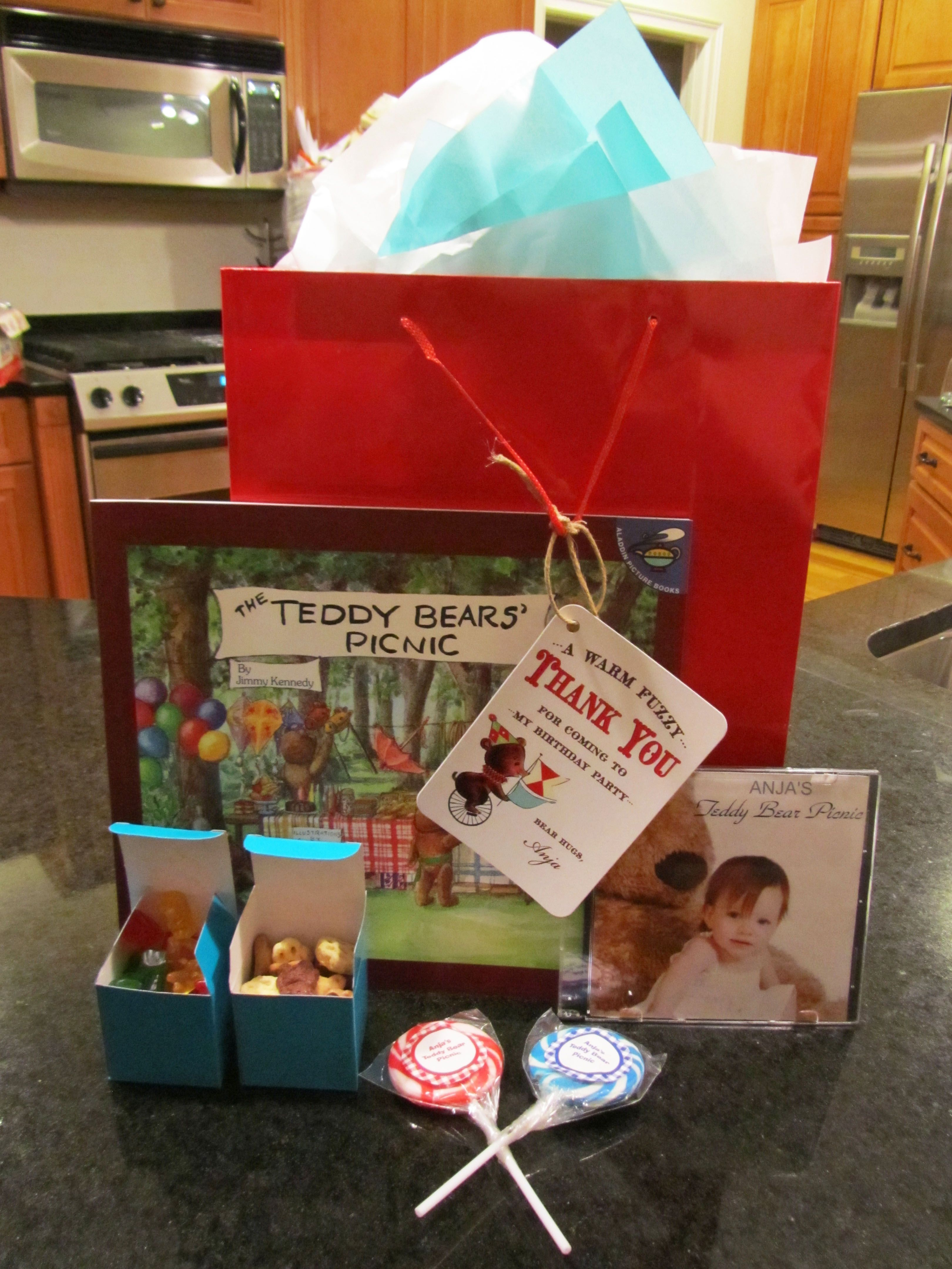 Teddy Bear Picnic Party Gift Bags   Teddy Bear Picnic Ideas ...