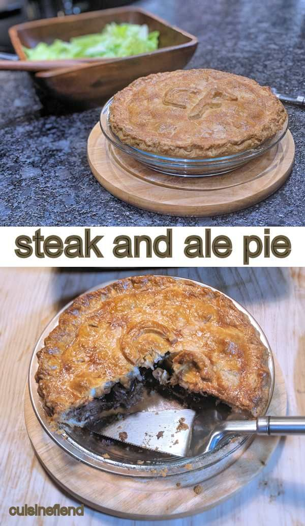 Steak and ale pie with flaky homemade shortcrust pastry ...