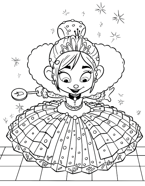 Princess Vanellope Disney Coloring Pages Princess Coloring Pages Cool Coloring Pages