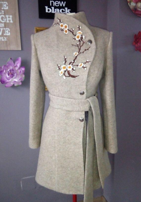 Wrap Midi Coat, Winter Overcoat With Belt For Women | Luca 2 #wearableart
