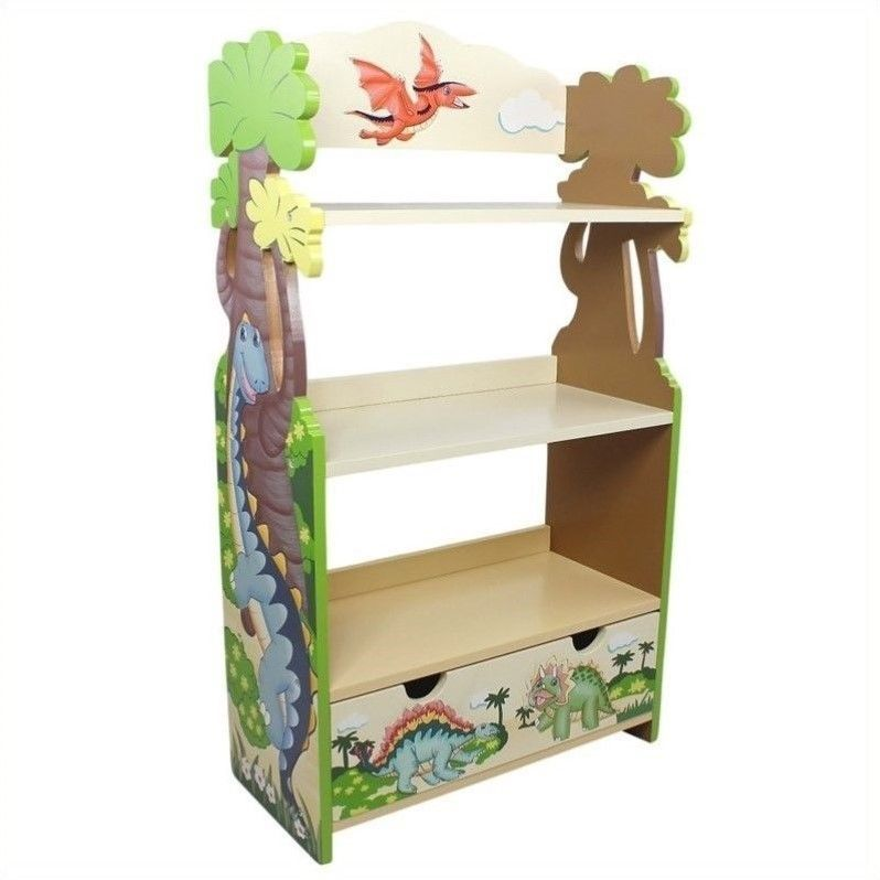 Turn Back The Pages Of Prehistoric Time With Fantasy Fields Dinosaur Bookcase Three Sy Tan Shelves Dino Indulgence Non Toxic Paint Your Child
