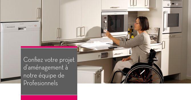 Cuisine Amenagee Pour Les Personnes Handicapees Cuisine Amenagee Cuisine Aide Handicap