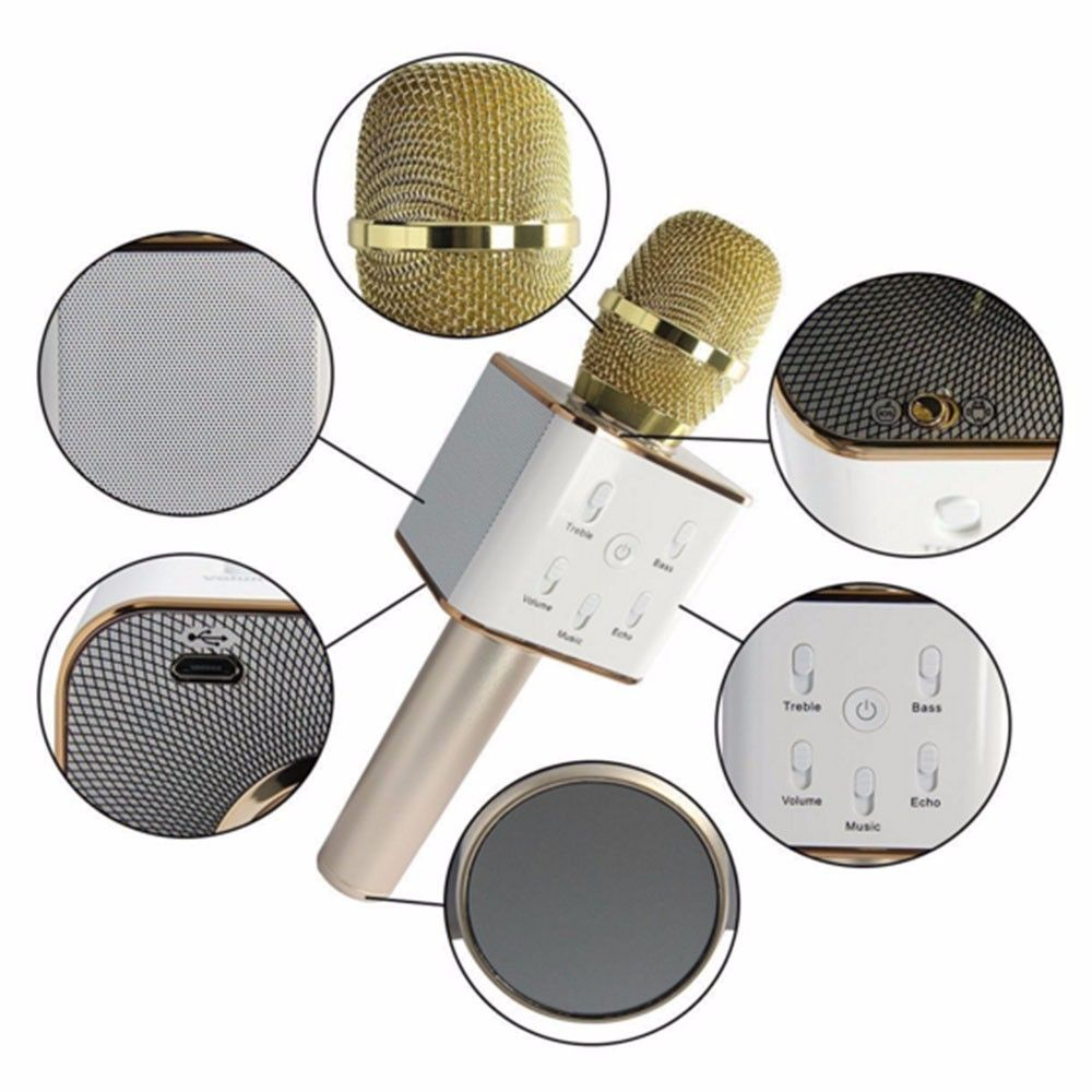 Free shipping Q7 Home KTV Karaoke Mic Microphone Player