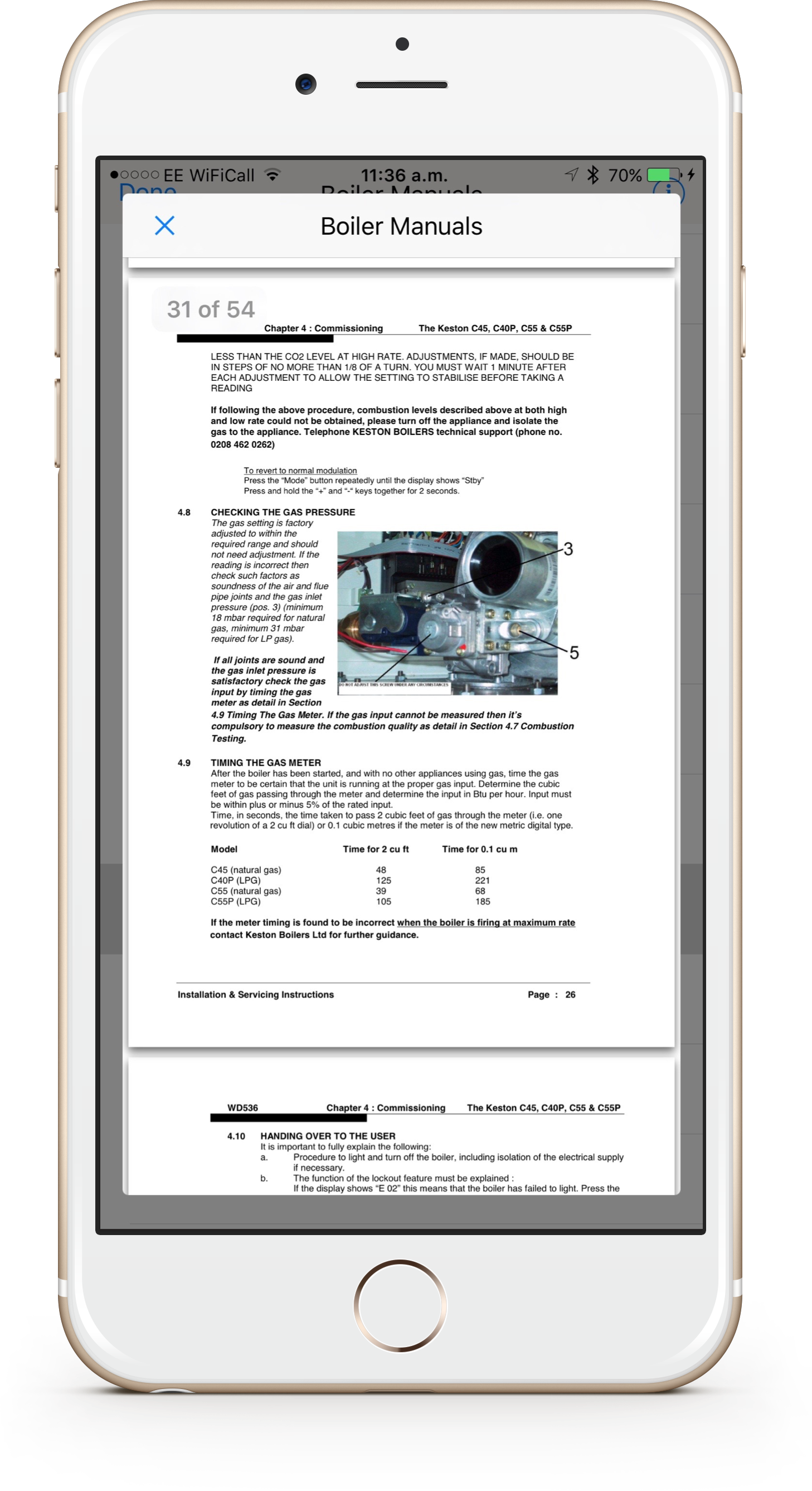 Improved boiler manuals section in iCertifi #Gas Edition V3.4 ...