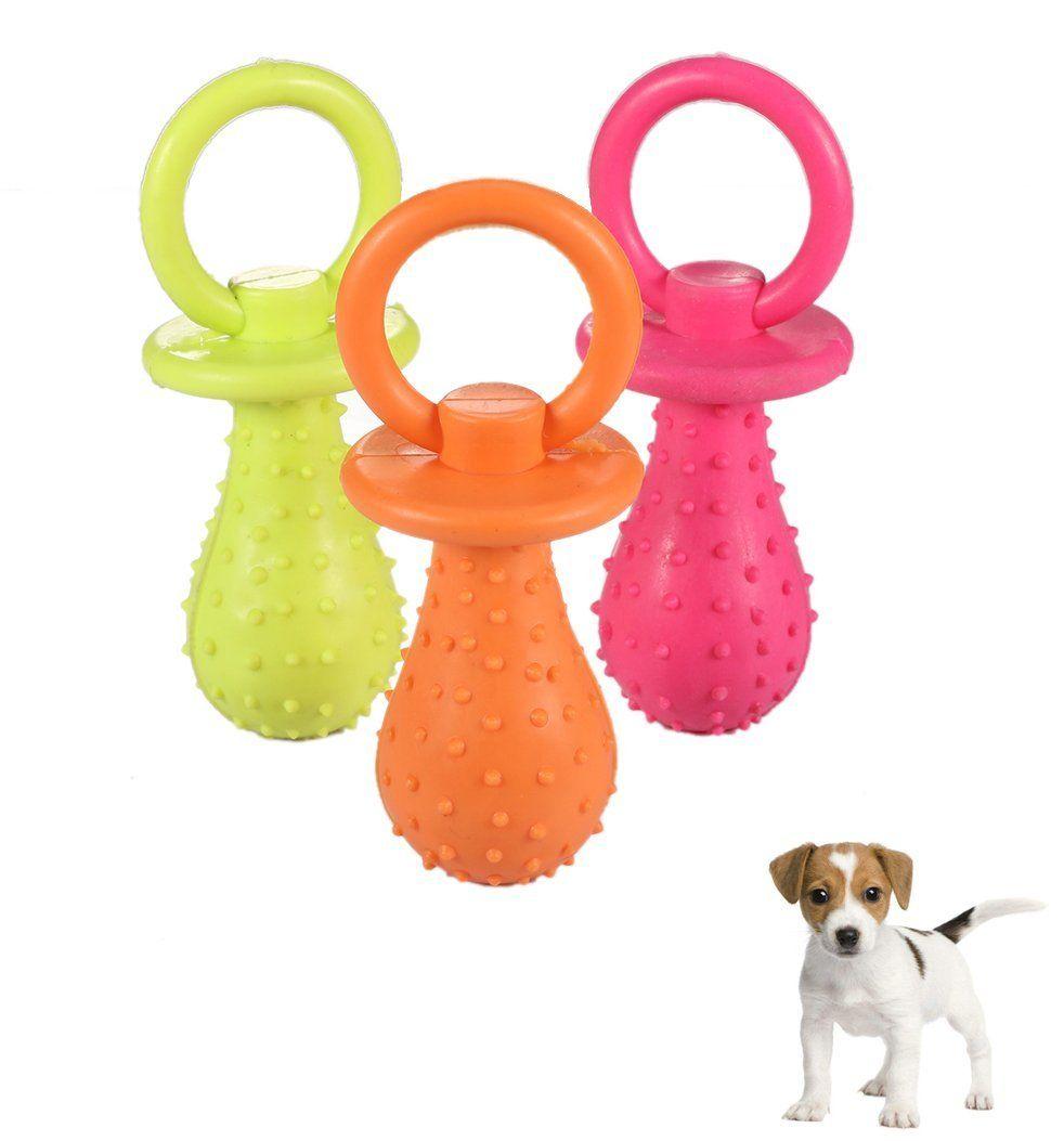 Fashionclubs 3pcs/set Puppy Pet Dog Rubber Pacifier Dog ...