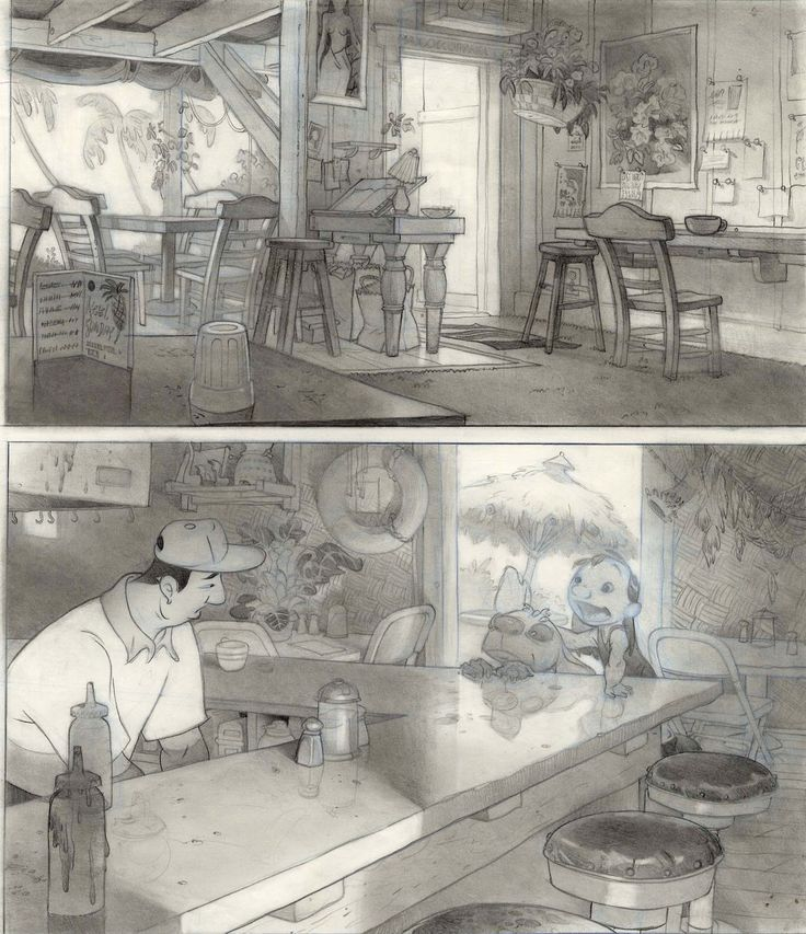 lilo and stitch background sketches - Google Search restaurant - background sketches
