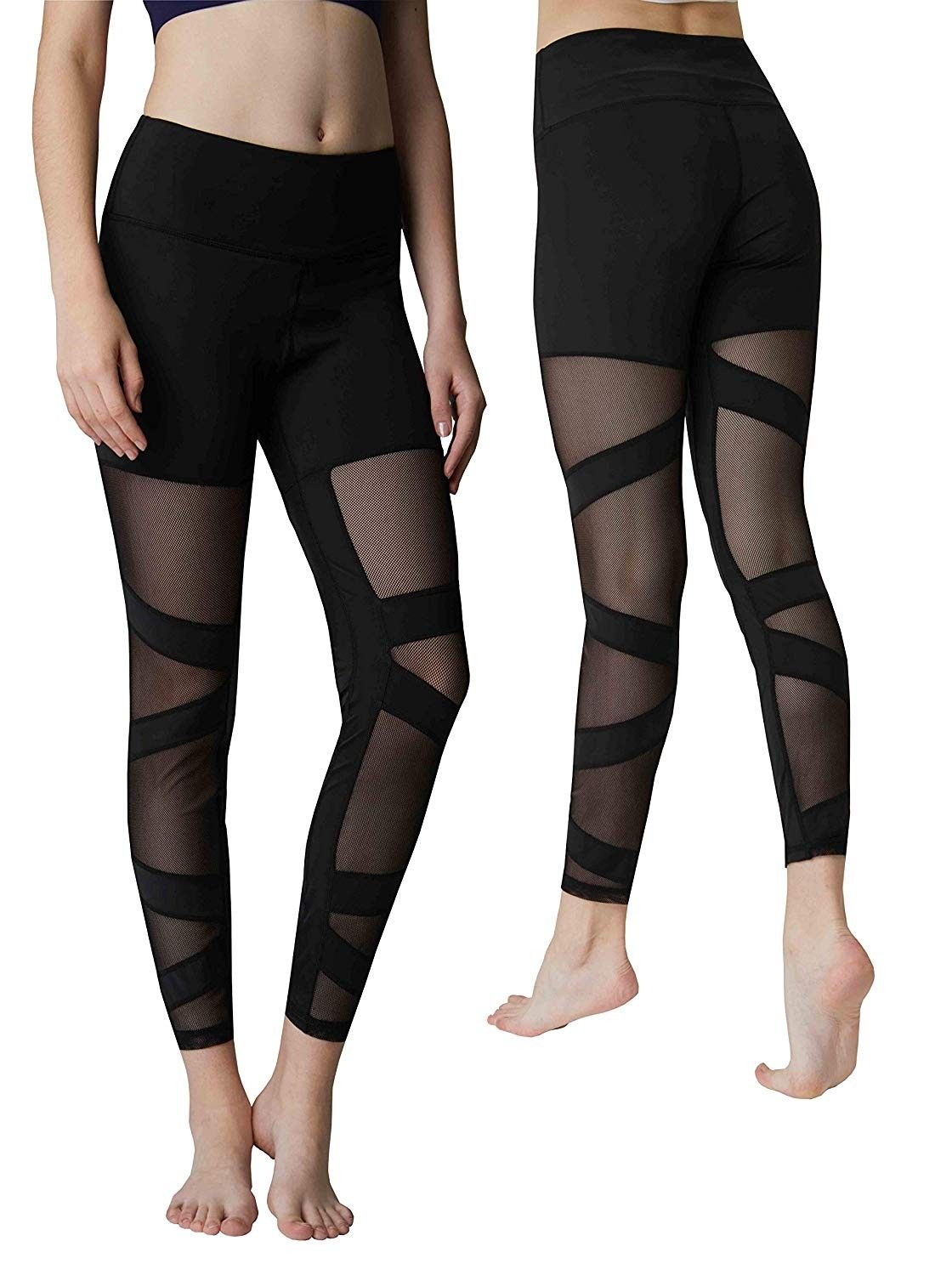 Yoga Pants High Waist Breathable Sport Leggings Tummy Control Sport Workout Stretch Tight Bottoms -...