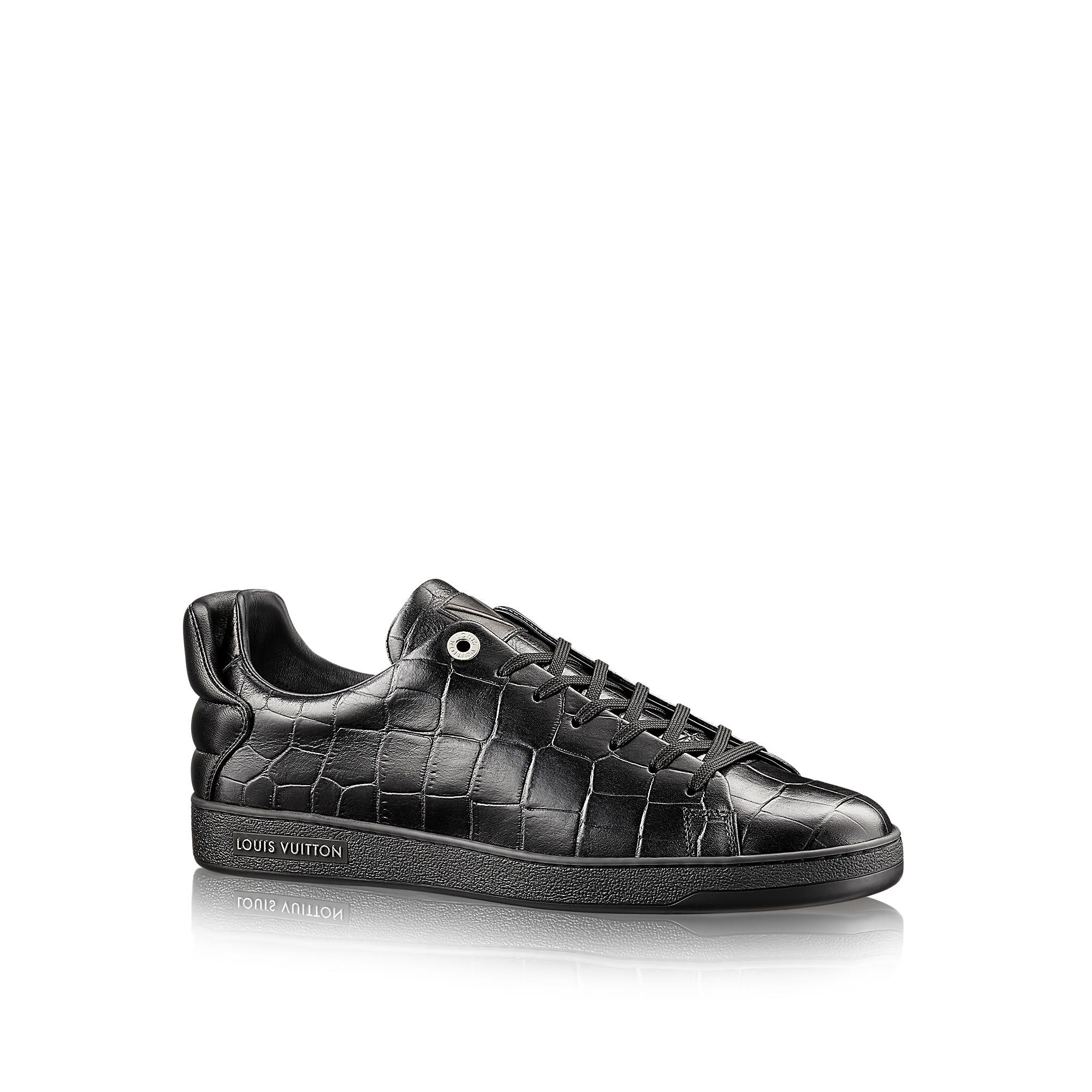 Discover Louis Vuitton Frontrow Sneaker: This modern, clean-cut sneaker in  embossed calf leather is a versatile choice for both city and casual wear.