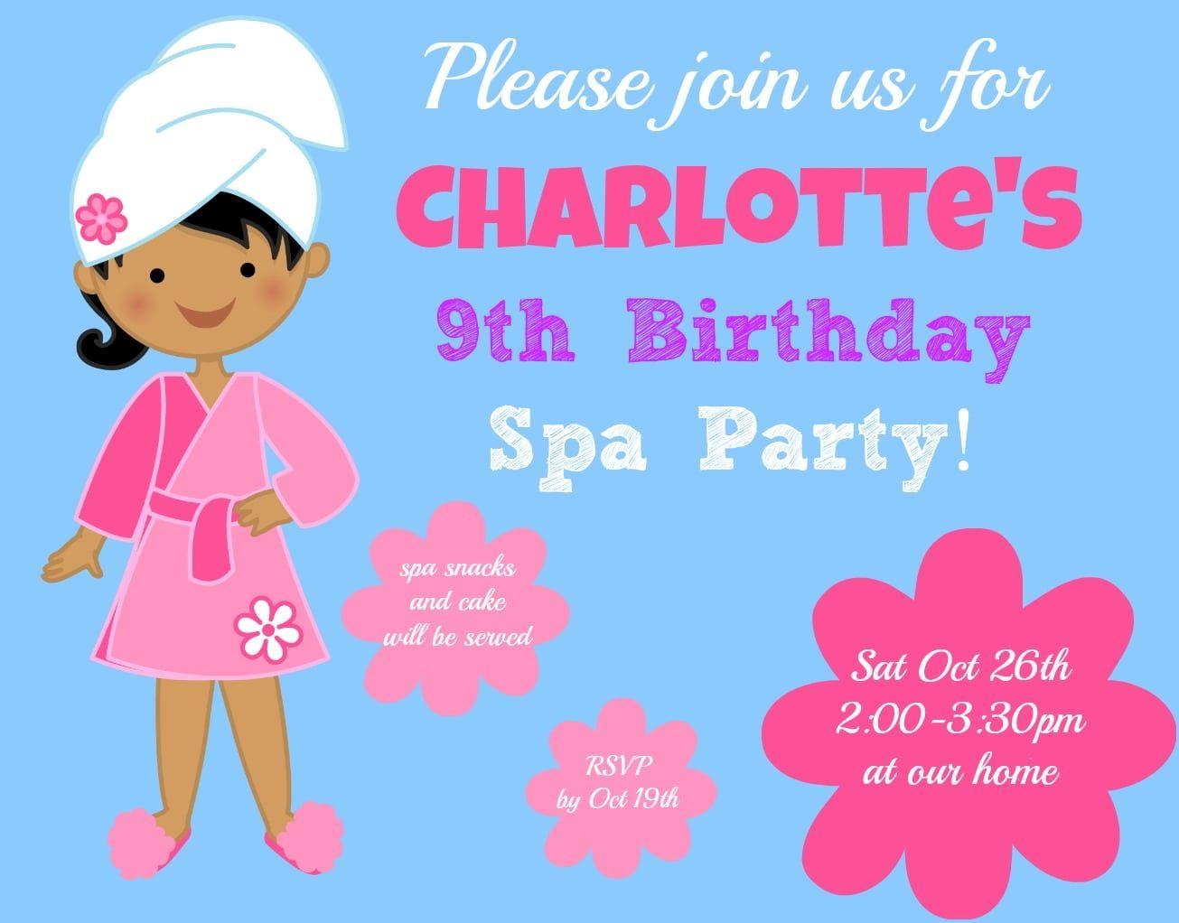 9 Year Old Birthday Invitations