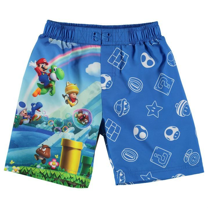 b884ceec6f Boys Nintendo Super Mario Swim Shorts | For My boys <3 | Swim shorts ...