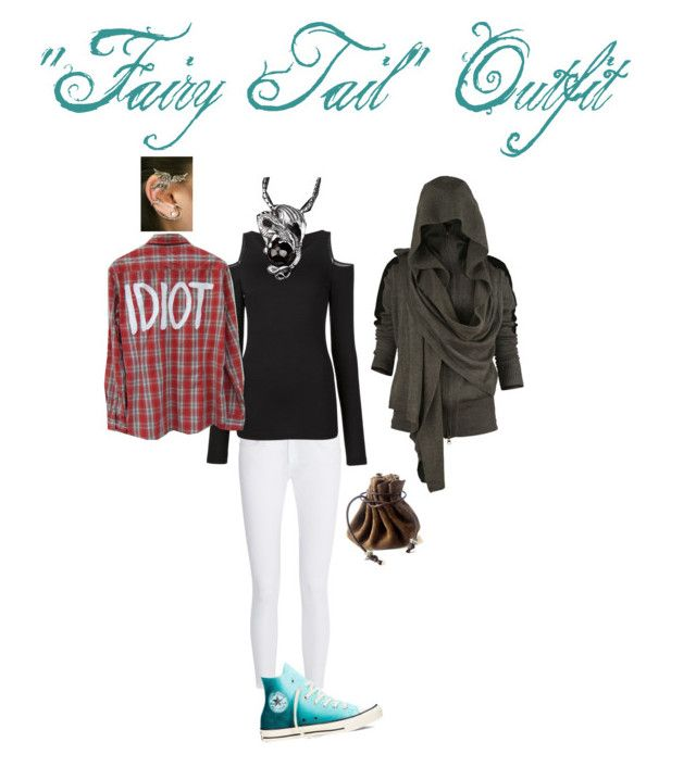 """""""""""Fairy Tail"""" Outfit"""" by ninjagogeek on Polyvore featuring rag & bone, Converse and Donna Karan"""