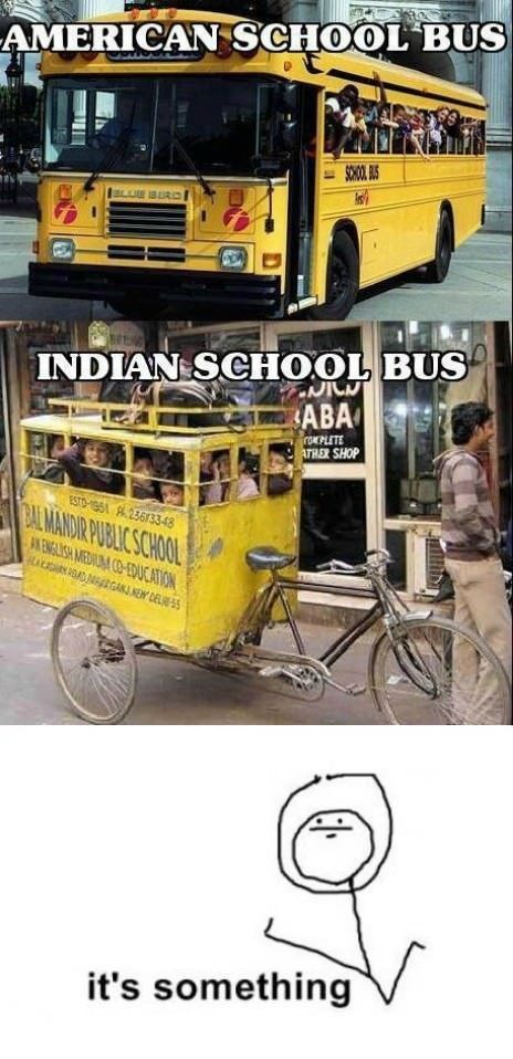 Laughing Chakra American Vs Indian School Buses Bicycle India