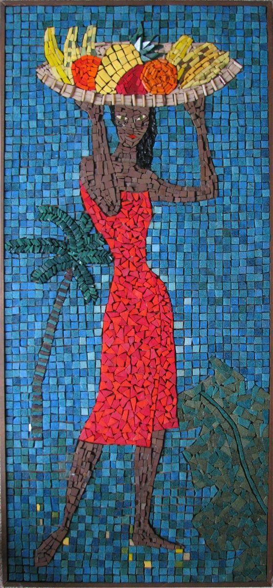 Woman With Fruits #mosaic #art   Mosaics 5   Pinterest ...