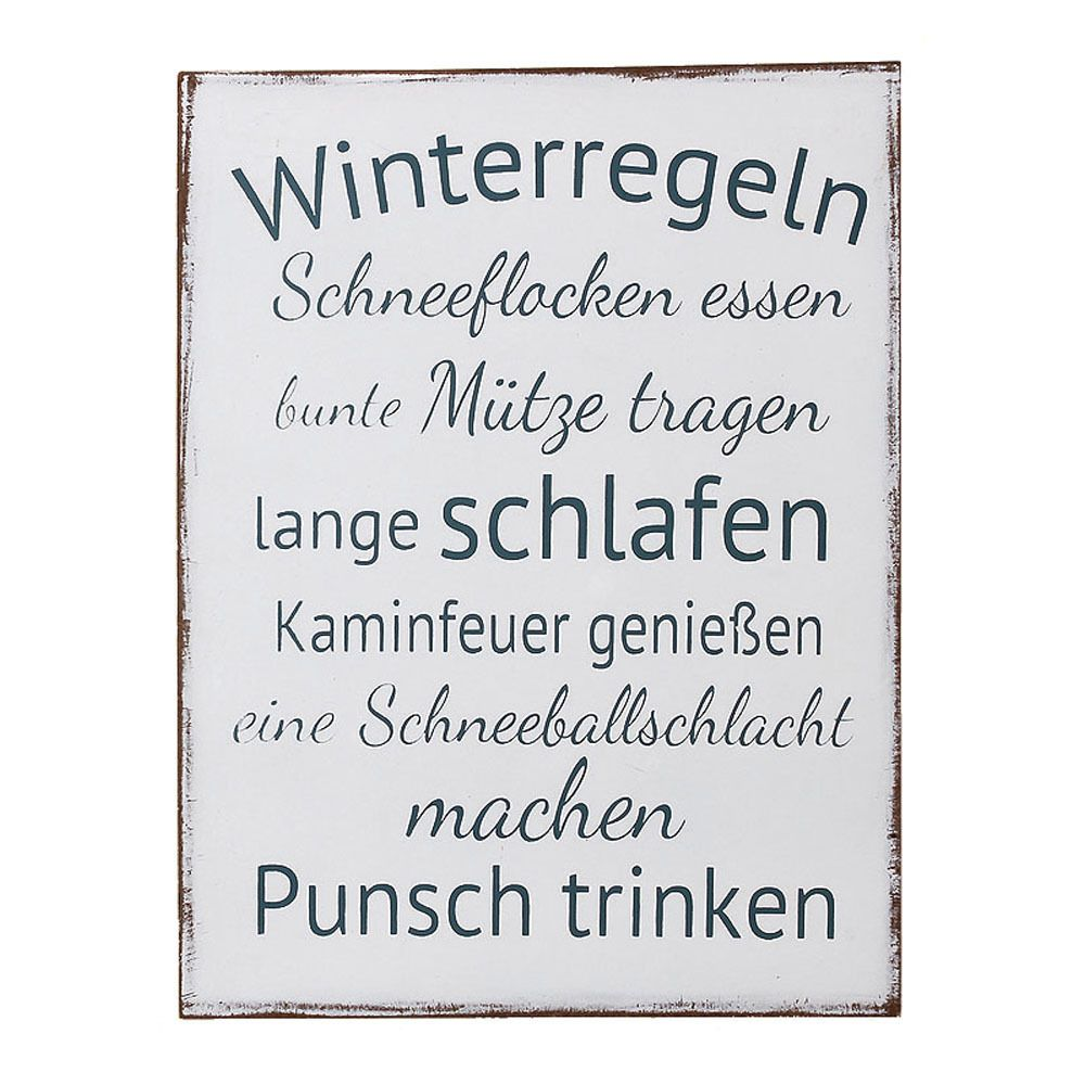 Winterregeln …