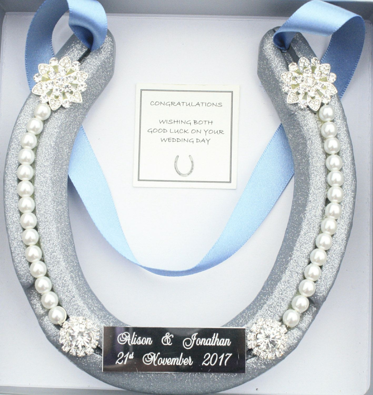 PERSONALISED Bridal Wedding Real Lucky HorseShoe Good Luck Gift By WightLuckyHorseShoes On Etsy