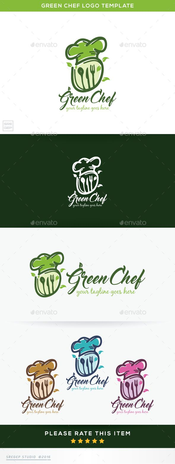 Green Chef - Food Logo Templates Download here : http://graphicriver.net/item/green-chef/15887583?s_rank=77&ref=Al-fatih