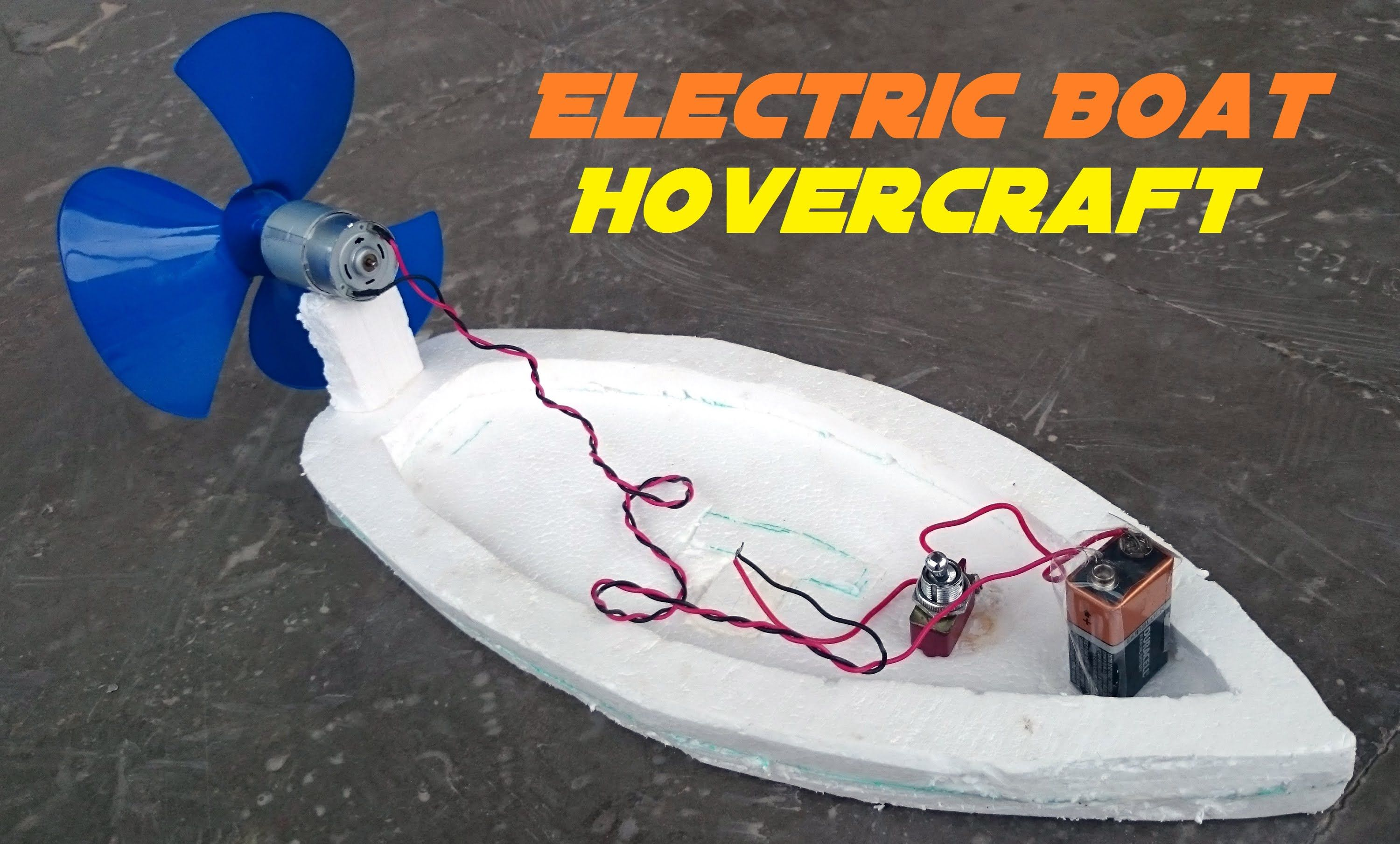 Air Boat: Learn how to make an electric boat working on air