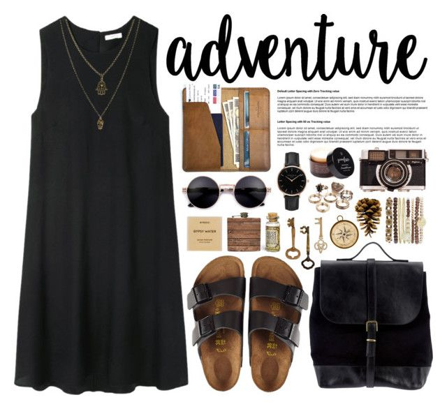 adventure. by nellylein on Polyvore featuring 6397, Birkenstock, Steve Mono, CO, Jessica Carlyle, Topshop, Jamie Jewellery, Byredo, Triumph & Disaster and Home Decorators Collection
