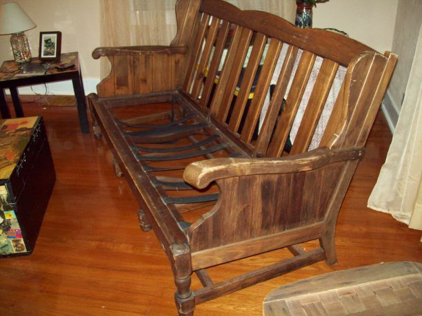 The Recreation Of A Free Sofa Wooden Couch Rustic Sofa Sofa Makeover