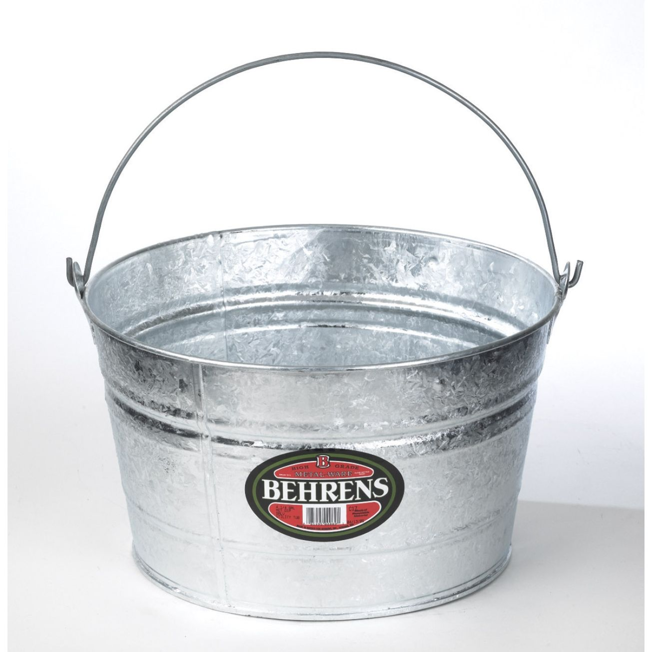 Behrens All Purpose 4 1 2 Gallon Round Tub C17 Outdoor Trash Cans Lids Carts Ace Hardware Behrens Outdoor Trash Cans Steel Tub