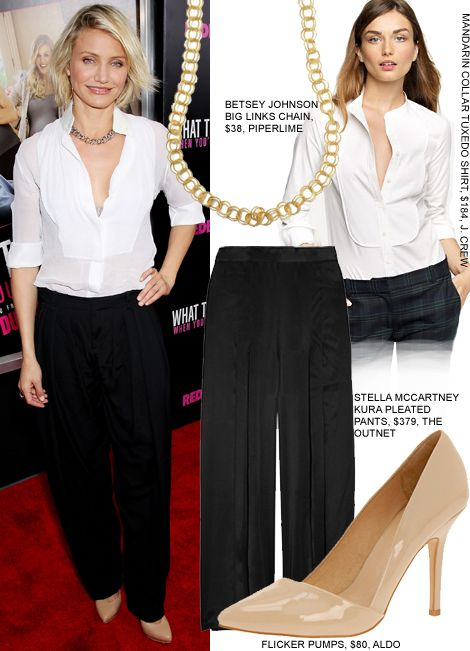 Steal Cameron Diaz's Menswear Inspired Red Carpet Look For Less