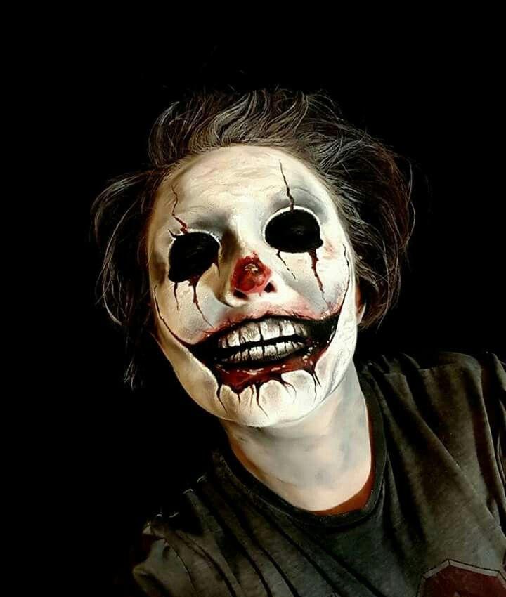 Creepy clown makeup | Halloween | Pinterest | Clown makeup, Creepy ...