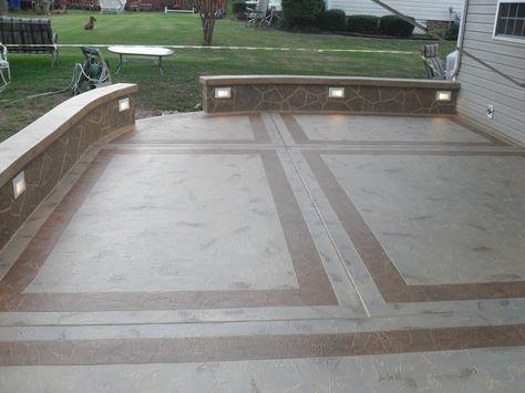 cement patio designs | unique concrete design, llp | concrete ... - Concrete Patio Floor Paint Ideas