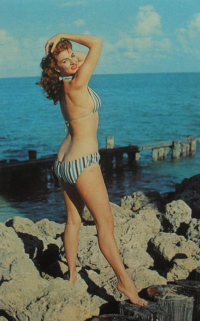 d801bce9fb017 1950s 1960s Woman Beach Swimsuit Bikini Pinup Cheesecake Photo Vintage  Postcard Women By Bunny Yeager 2 by Christian Montone, via Flickr