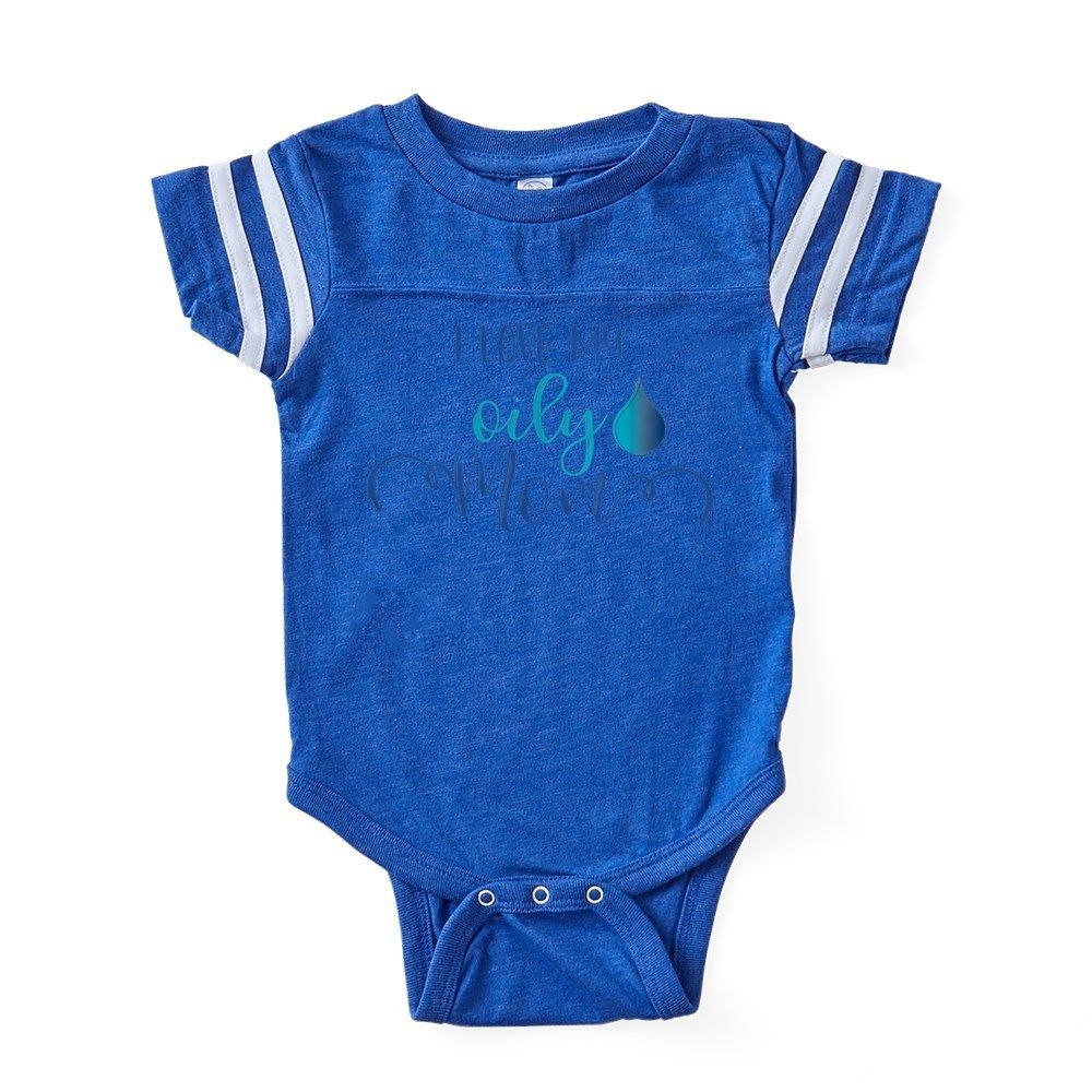 9e6670c3e2 CafePress Oily Mom Baby Football Bodysuit (325461506)  fashion  clothing   shoes