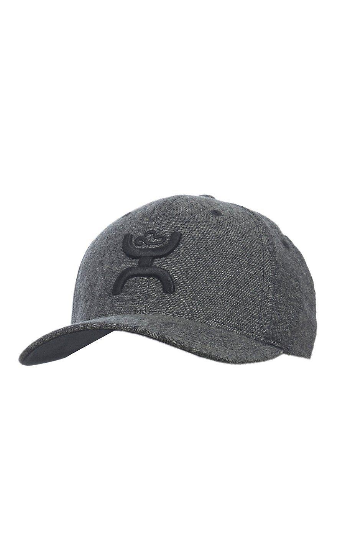Hooey Grey Diamond With Black Logo Flex Fit Cap Cowboy