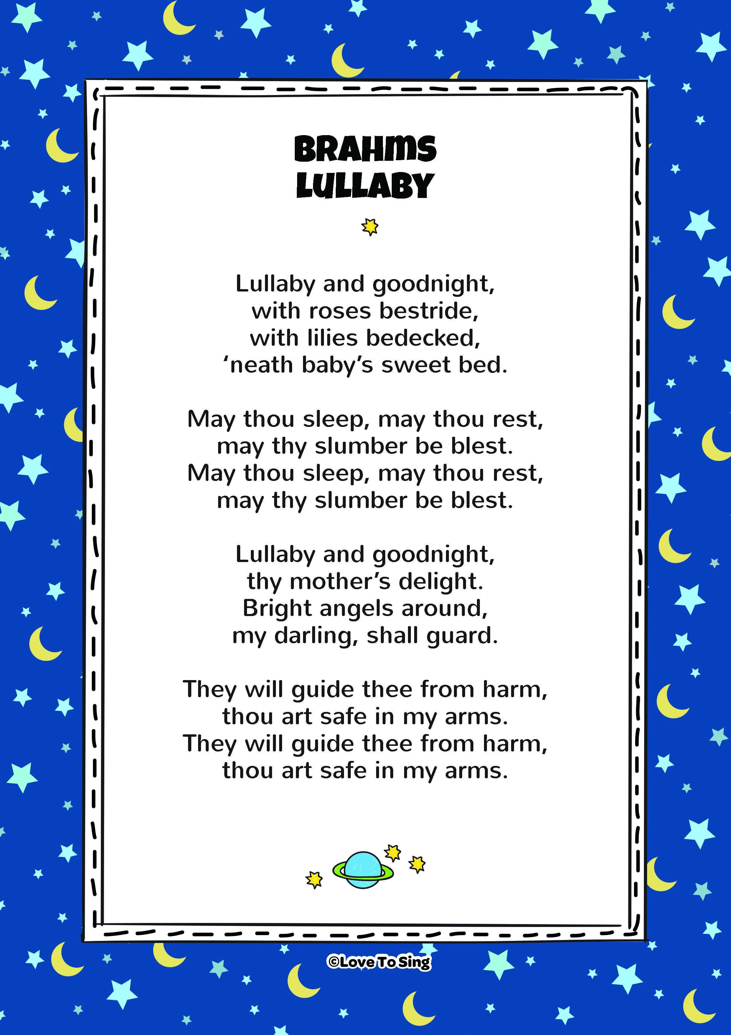Brahms Lullaby Nursery Rhymes Lyrics