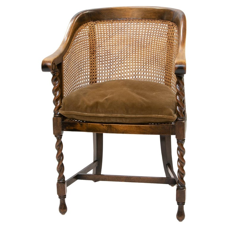 English 19th Century Barrel Back Armchair For Sale at
