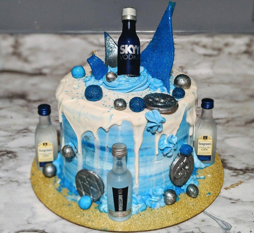 Blue Dream Alcohol Drip Cake Alcohol Cake Cake Drip Cakes