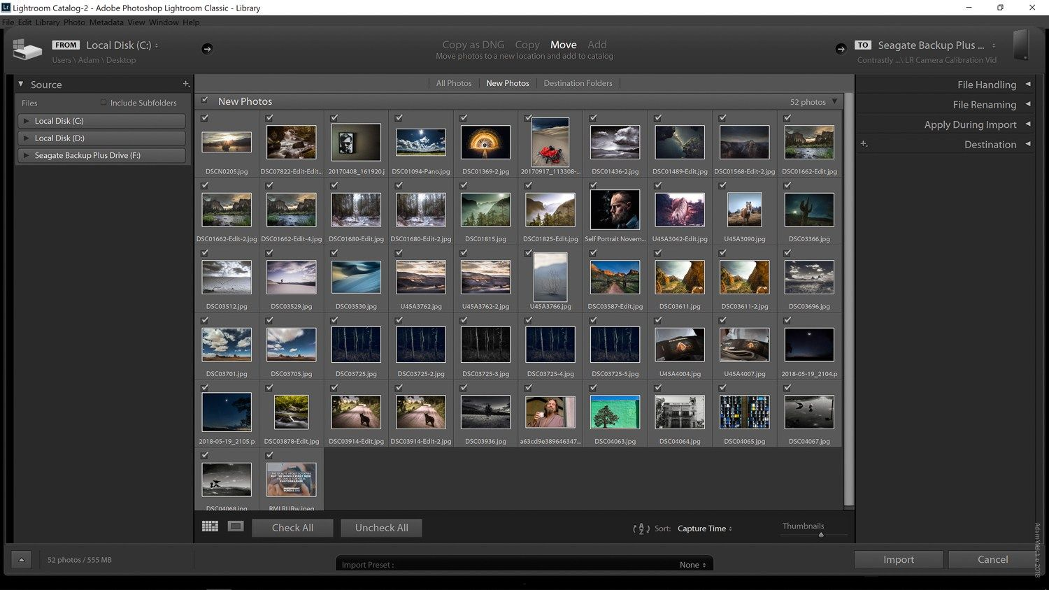 How to export from lightroom cc