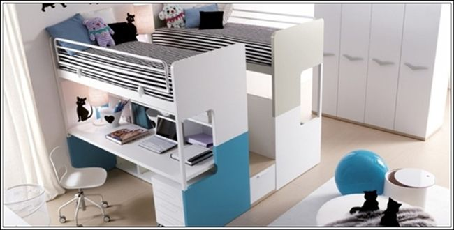 Bunk Beds For Kids With Desks Underneath This Is A Remarkable Bed Two Single At The Same Y