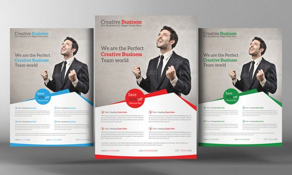 Creative Business Flyer Template By Business Templates On @creativemarket  Flyer Samples Templates
