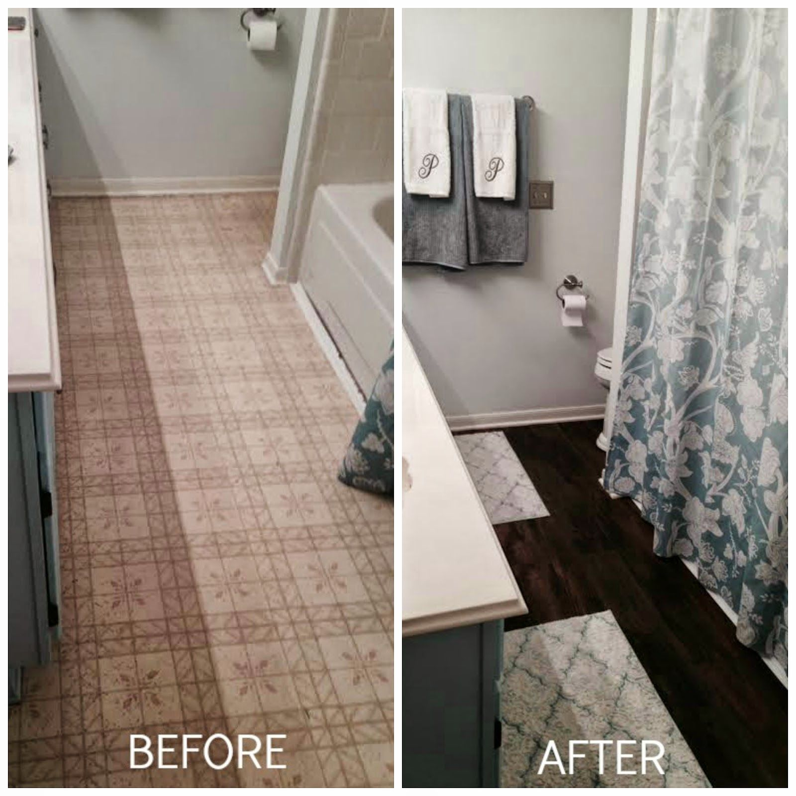 L Stick Tile Strikes Again In November I Shared With You How Transformed The Dated Linoleum