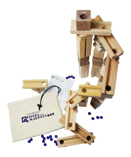 Super Blocks Amp Marbles Set Wooden Marble Run Cool Gifts