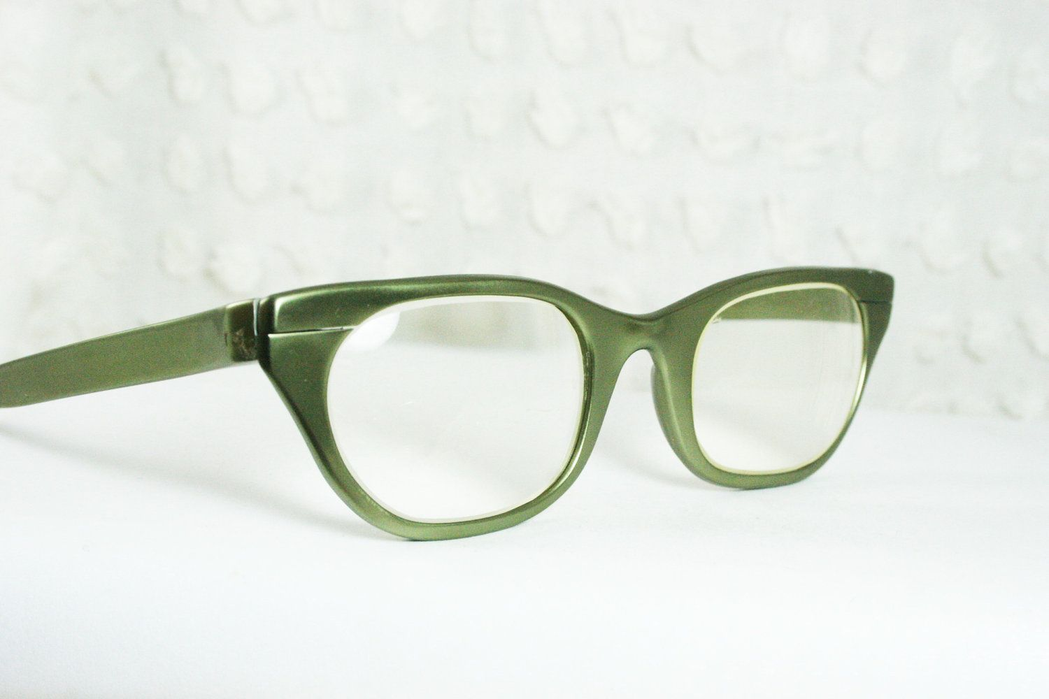 Glasses Frames Green : cat eye glasses image Tura 50s Cat Eye Glasses 1950s ...
