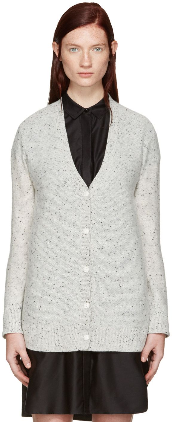 RAG & BONE Grey Cashmere Tamara Cardigan. #ragbone #cloth #cardigan